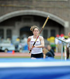 Michelle Favre - Ramapo College ladies pole vault Royalty Free Stock Photography