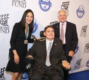 Michelle Kwan joins Marc Buoniconti and Nick Buoniconti Stock Photography