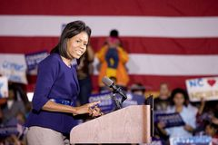 Michelle Obama Stock Photo
