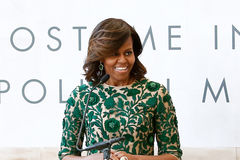 michelle Obama Fotografia Stock