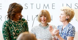 Michelle Obama, Anna Wintour, Emily K rafferty Imagens de Stock