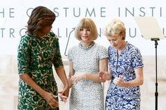 Michelle Obama, Anna Wintour, Emily K rafferty Fotos de Stock