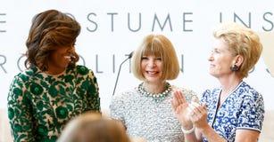 Michelle Obama, Anna Wintour, Emily Κ rafferty Στοκ Εικόνες