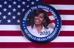 Michelle Obama 2020 kandyday na prezydenta Obrazy Royalty Free