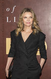 Michelle Pfeiffer. Gorgeous actress Michelle Pfeiffer arrives for the New York City premiere of HBO`s film, `The Wizard of Lies,` at the Museum of Modern stock photos