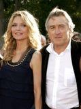 Michelle Pfeiffer och Robert De Niro Fotografering för Bildbyråer