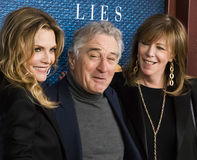 Michelle Pfeiffer, Robert DeNiro, and Jane Rosenthal. Gorgeous actress Michelle Pfeiffer arrives for the New York City premiere of HBO`s film, `The Wizard of Stock Photo