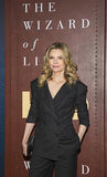 Michelle Pfeiffer. Stunning actress Michelle Pfeiffer arrives for the New York City premiere of `The Wizard of Lies,` at the Museum of Modern Art MOMA on May 11 Royalty Free Stock Image