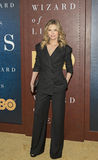 Michelle Pfeiffer. Stunning actress Michelle Pfeiffer arrives for the premiere of HBO`s `The Wizard of Lies,` which is the story of financier and swindler Stock Photography