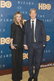 Michelle Pfeiffer and David E. Kelley. Stunning actress Michelle Pfeiffer and her husband, tv writer and producer, David E. Kelley, arrive for the premiere of Stock Photography