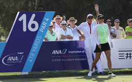 Michelle Wie at the ANA inspiration golf tournament 2015 Royalty Free Stock Photography