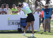 Michelle Wie at the ANA inspiration golf tournament 2015 Royalty Free Stock Photo