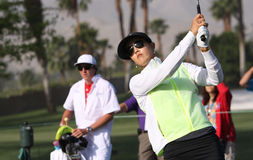 Michelle Wie at the ANA inspiration golf tournament 2015 Royalty Free Stock Photos