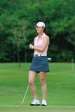 Michelle Wie bij de Reis THAILAND 2010 van PTT LPGA van Honda Royalty-vrije Stock Fotografie