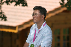 Michelle Wie father, evian masters 2006 Royalty Free Stock Image