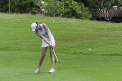 Michelle Wie hits fairway shot Royalty Free Stock Photo