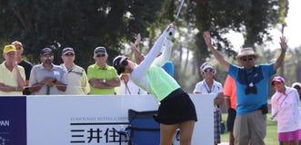 Michelle Wie no competiam 2015 do golfe da inspiração de ANA fotografia de stock