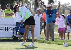 Michelle Wie przy ANA inspiraci golfa turniejem 2015 Zdjęcia Stock