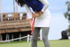 Michelle Wie (USA) Evian Masters 2011 Royalty Free Stock Photo