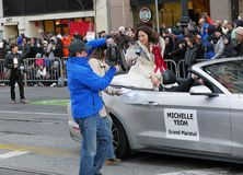 Michelle Yeoh at Chinese Parade 2018 San Francisco Stock Images