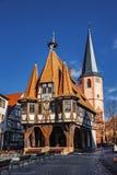 Michelstadt Città Vecchia Germania fotografia stock libera da diritti