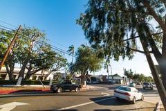 Micheltorena i stanu uliczny rozdroże w Santa Barbara obraz stock