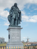 Michiel de Ruyter monument in Vlissingen, Netherlands. Michiel de Ruyter monument in the port of Vlissingen, Netherlands. De Ruyter, born in Vlissingen, was a Royalty Free Stock Image