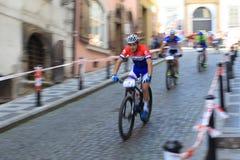 Michiel Van Der Heiden - Prag tritt Fahrradrennen 2014 Stockfotos