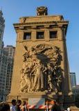 Michigan alei mosta statua Obrazy Stock