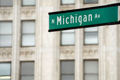 Michigan Ave. Nue street sign, downtown Chicago Royalty Free Stock Photo