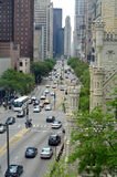 Michigan Ave. Chicago. With a blend of old and new architecture Stock Photo