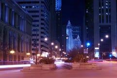 Michigan ave Chicago Arkivfoton