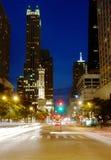 Michigan ave Chicago jest noc Obraz Royalty Free