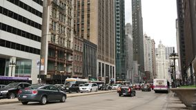 Michigan Ave in Downtown Chicago Traffic stock footage