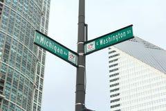Michigan Ave. and Washington St. Royalty Free Stock Photos
