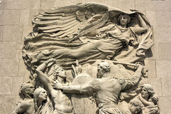 Michigan Avenue Bridge Relief - Chicago. Michigan Avenue bridge relief in Chicago. The relief called Defense depicts Ensign George Ronan in a scene from the 1812 Royalty Free Stock Images