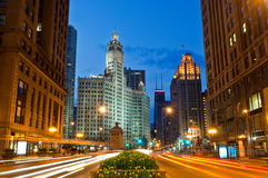 Michigan Avenue in Chicago Royalty Free Stock Images