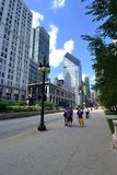 Michigan Avenue in Chicago. May be used as a tourist ad for the city of Chicago Stock Photo