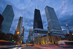 Michigan Avenue in Chicago. Royalty Free Stock Photography