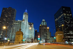 Michigan Avenue in Chicago. Stock Photos