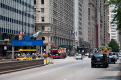 Michigan Avenue in Chicago, USA Stock Photography
