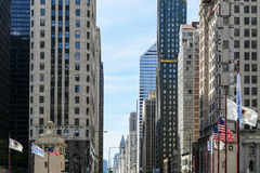 Michigan Avenue in Chicago Royalty Free Stock Photos