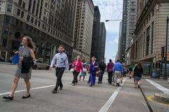 Michigan avenue in chigago Stock Photos