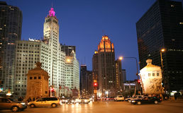 Michigan Avenue at DuSable Bridge Royalty Free Stock Photos
