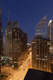 Michigan Avenue at Night Chicago Royalty Free Stock Image