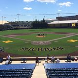 Michigan baseball. University of Michigan& x27;s baseball field Stock Image