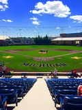 Michigan baseball. University of Michigan& x27;s baseball field Royalty Free Stock Images