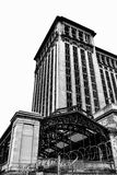 Michigan Central Station. A black & white shot of the now defunct Michigan Central Station in Detroit, MI Stock Photography