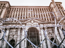 Michigan Central Station Razor Wire Royalty Free Stock Photo