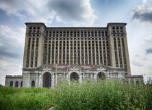 Michigan Central Station With Weeds Stock Image